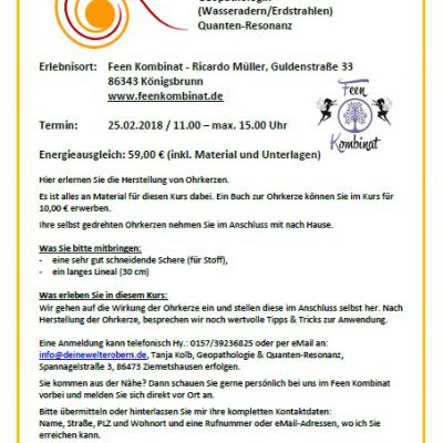 Workshop Ohrenkerzen