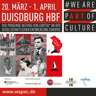WE ARE PART OF CULTURE Duisburg