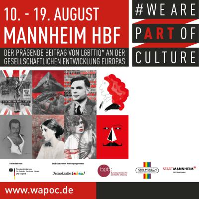 WE ARE PART OF CULTURE Mannheim
