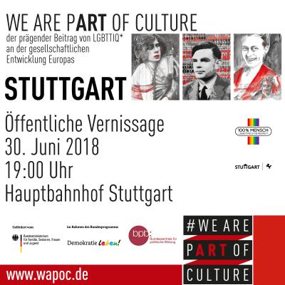 Vernissage WE ARE PART OF CULTURE Stuttgart