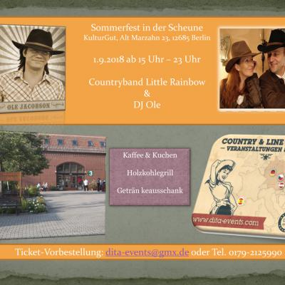 Country in der Scheune 1.9.2018, 15 Uhr - 23 Uhr
