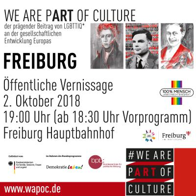 Vernissage WE ARE PART OF CULTURE Freiburg