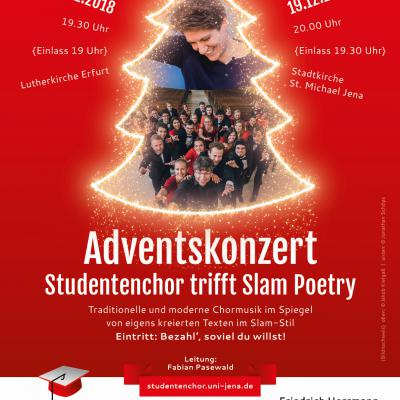 Adventskonzert: Studentenchor trifft Slam Poetry!