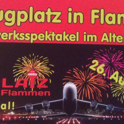 Flugplatz in Flammen Altenburg